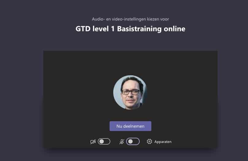 Instructie online live training in Teams